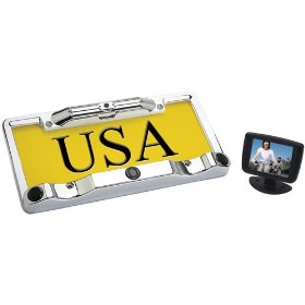 Boyo Vtc433R Full Frame License Plate Camera Package with Back-Up Sensors
