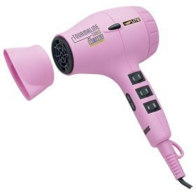 Hot Tools Nano Silver Ultra Lite Tourmaline Ionic Professional Dryer 1875 Watts - Pink Limited Edition for Breast Cancer Research Model No. 1045