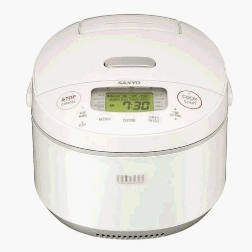 Sanyo ecjjg10w rice cooker 5.5cup induction heat sleep timer