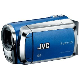 Jvc gzms120aus blue camcorder dual sd card slot
