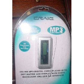 Craig CMP1329B MP3 Player