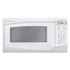 Sharp r308nw white microwave 1.0cf 1100w turntable
