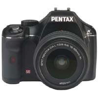 Pentax 10.2 MP Digital SLR Camera with 18-55mm Lens - Black (K2000)