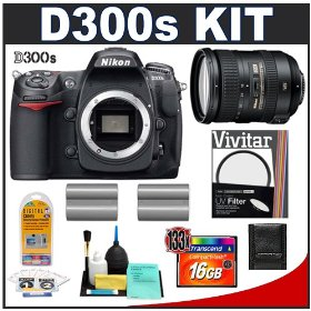 Nikon D300s Digital SLR Camera + 18-200mm VR [Vibration Reduction] II DX Lens + 16GB Card + (2x) EN-EL3e Battery Packs + UV Filter + Cameta Bonus Accessory Kit