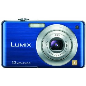 Panasonic Lumix DMC-FS15 12MP Digital Camera with 5x MEGA Optical Image Stabilized Zoom and 2.7 inch LCD (Blue)