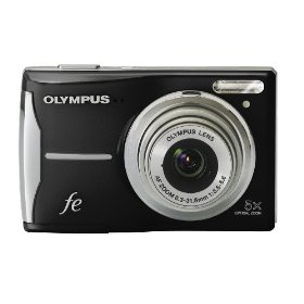 Olympus FE-46 12MP Digital Camera with 5x Optical Zoom and 2.7 inch LCD (Pearl Black)
