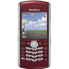 BlackBerry Pearl 8100 Refurbished Unlocked Phone with Camera, and MicroSD Slot--International Version with 60-Day Warranty (Red)