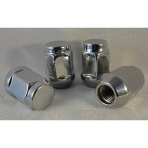 12x1.5 Chrome Plated Acorn Conical Seat Lug Nuts 13/16