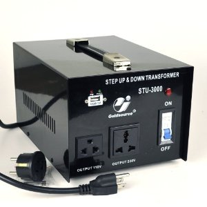 Goldsource� STU-3000 Step Up and Down Voltage Converter Transformer - AC 110/220 V - 3000 Watt with 5 Volt USB output