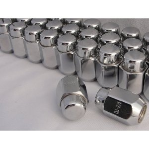 Chrome 2 Piece Lug Nuts 13/16