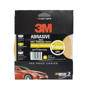 3M Stikit Gold Disc, 6 in, Grade P400, Pack of 5 Discs