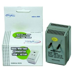 1875 WATTS TRAVEL VOLTAGE CONVERTER FOR USING 110V USA PRODUCTS IN 220V/240V COUNTRIES. GREAT FOR TRAVELLING.