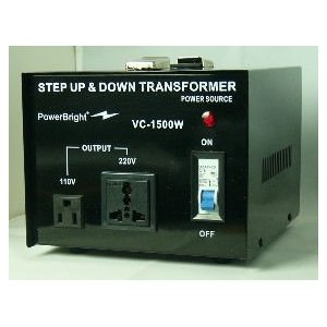 Power Bright VC1500W Voltage Transformer 1500 Watt Step Up/Down 110 Volt - 220 Volt