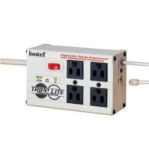 Tripp Lite ISOTEL Isobar 4-Outlet Premium Surge Protector (2700 Joules, Tel)