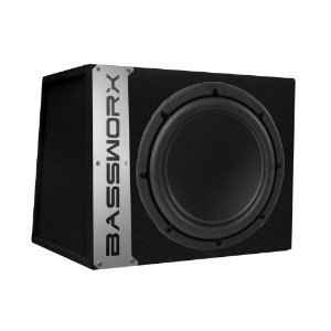 Bassworx 'CS10B CS10B Single 10-InchSealed Enclosure (Black)