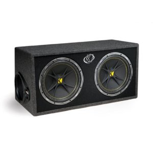 Kicker Comp 07DC124 4-Ohm 2 Subwoofers In Vent Box