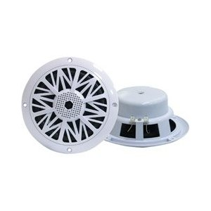 PYLE PLMR82 300 Watts 8-Inch 2 Way White Marine Speakers