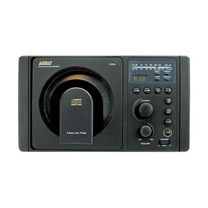 In-Wall AM/FM Receiver with CD Player (Black) for RV installation