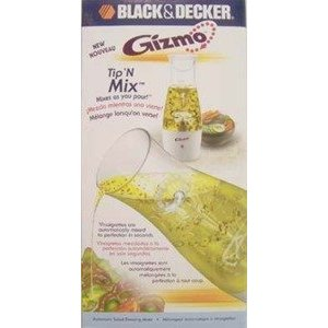 BLACK & DECKER SALAD DRESSING MIXER IN WHITE GIZMO SERIES - CASE PACK OF 3