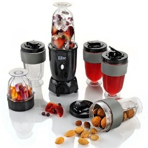 MaxiMatic EPB-1800 Elite Cuisine 300-Watt 17-Piece Personal Blender, Black