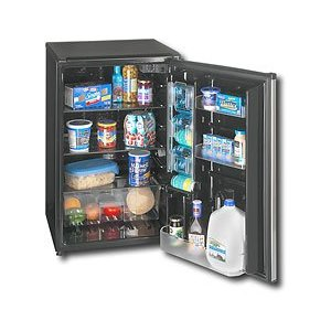 Sanyo SR-4912M 5-Cubic-Feet Counter High All Refrigerator with Platinum Door