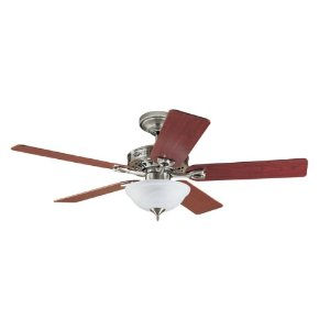 Hunter 22460 The Astoria Two-Light 52-Inch Five Blade Ceiling Fan, Brushed Nickel with Bowl