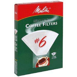 Melitta 626402 40-Count No.6 White Cone Coffee Filters
