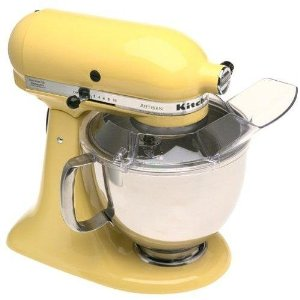 KitchenAid Artisan stand mixer. YELLOW.