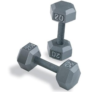 Body Solid Iron Hex Dumbbell Pairs