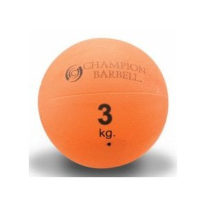 6.6 lbs (3 KG) Orange Rubberized Medicine Ball (9
