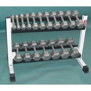 Hex Dumbbell 2-25LB 160LB and Rack
