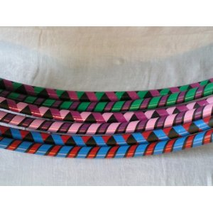 Weighted Hula Hoop for Exercise and Fitness - Colorful Vinyl Tapes