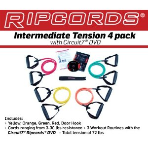 Ripcords Resistance Bands - 4 pack with DVD