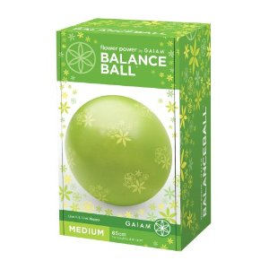 Gaiam Flower Power 65cm Balance Ball Kit (Keylime)