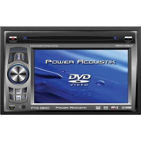 Power Acoustik PTID-5800 5.8-Inch Widescreen In-Dash Monitor with DVD and AM/FM