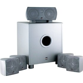 Dual LHT1000S 6-Piece Home Theater Speaker System, Silver