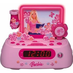 Barbie Story Teller BAR805 Clock Radio with AM/FM Radio