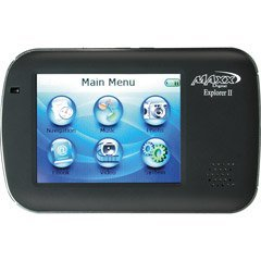 Maxx Digital PN3500 Explorer II Portable GPS System with Personal Media Player for MP3/Photo Viewer/MPEG4 Movies
