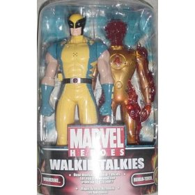 MGA Marvel Spiderman Walkie-Talkie Human Torch Wolverine