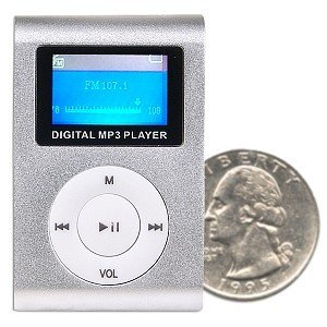 2GB USB Clip Style MP3 Player w/FM/Voice (Silver)