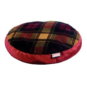 Coleman 8740221 dog bed classic round red plaid 34inch diamet