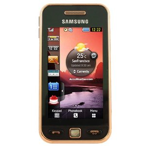 Samsung S5230 Tocco Lite Unlocked Phone with Quad-Band GSM, 3 MP Camera MP3/Video Player and MicroSD Slot--International Version with Warranty (Black Gold)