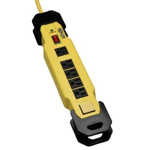 Tripp Lite TLM609SA 6-Outlet Safety Surge Protector with Metal Housing (1200 Joules, OSHA Yellow)