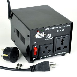 Goldsource� STU-300 Step Up and Down Voltage Converter Transformer - AC 110/220 V - 300 Watt with 5 Volt USB output