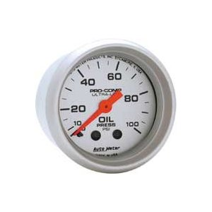 Auto Meter Ultra-Lite Mechanical Oil Pressure Gauges - 2-1/16 in.