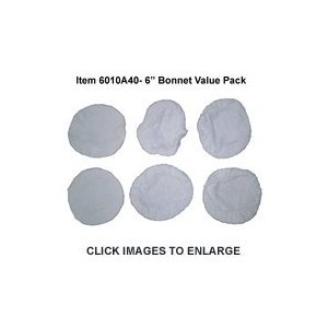 6 Inch Terrycloth Bonnet Value Pack