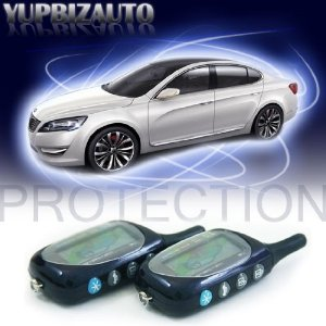 3000 Feet Range Code Hopping TWO-WAY Paging Universal Vehicle Security and Remote Starter System