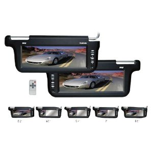 PYLE PLVSR10BK Pair of 10.2-Inch TFT/LCD Left and Right Sun Visor Monitors (Black Color)