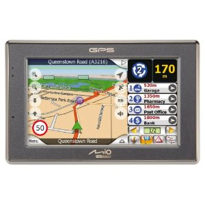 Mio C520 4.3-Inch Widescreen Bluetooth Portable GPS Navigator