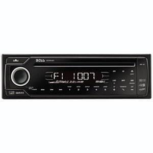 Boss 835UI In-Dash Touchpanel CD/MP3 Receiver with Front Panel AUX Input, USB, SD Card (Detachable Face)